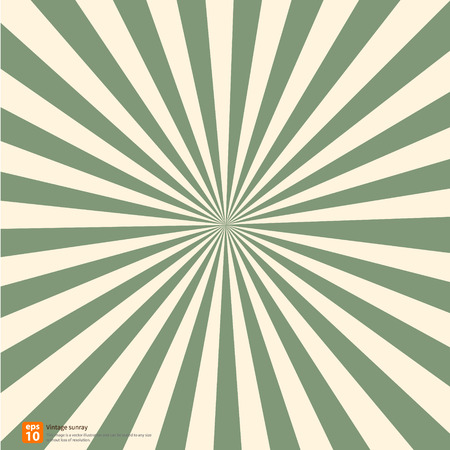 Ilustración de New vector Vintage green rising sun or sun ray,sun burst retro background design - Imagen libre de derechos