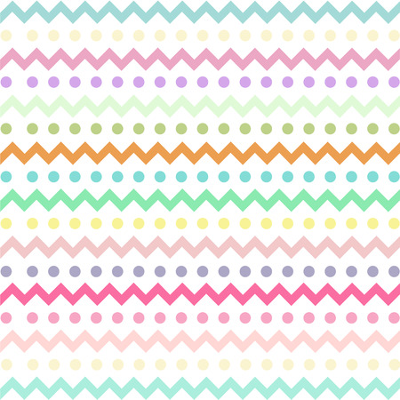 Illustration for Colorful Chevron pattern for eggs easter day vector design - Royalty Free Image