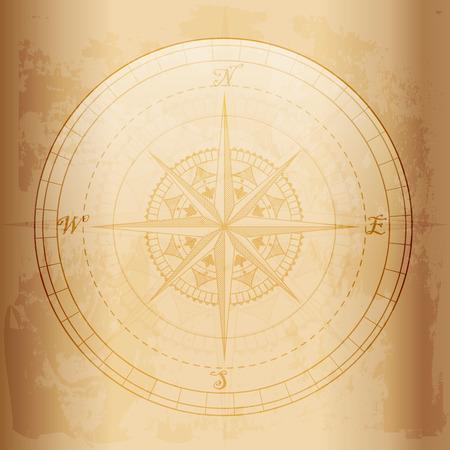 Illustration pour Vintage compass ,old and grunge effect vector design - image libre de droit