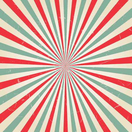 Ilustración de New vector Vintage Red rising sun or sun ray,sun burst retro background design - Imagen libre de derechos