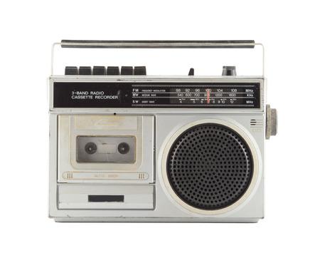 Photo for Vintage Radio isolate on white - Royalty Free Image