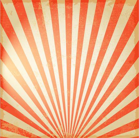 Ilustración de New Vintage Red rising sun or sun ray,sun burst retro background design - Imagen libre de derechos
