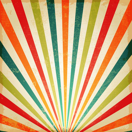 Photo for New Vintage Multicolor rising sun or sun ray,sun burst retro background design - Royalty Free Image
