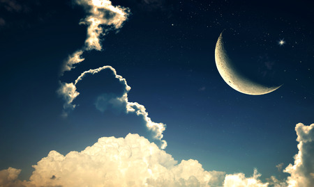 Foto de Crescent moon with Stars - Imagen libre de derechos