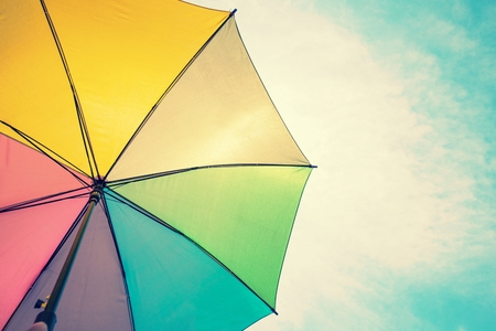 Foto de Abstract image of vintage colorful umbrella - Imagen libre de derechos