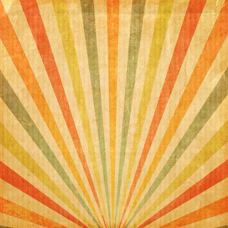 Photo pour Vintage background Multicolor rising sun or sun ray,sun burst retro paper be crumpled - image libre de droit