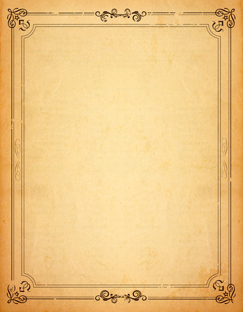 Photo pour Old paper with patterned vintage frame - blank for your design - image libre de droit