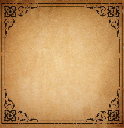 Photo pour Old paper with patterned vintage frame - blank for your design - image libre de droit