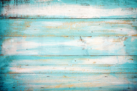 Photo for vintage beach wood background - old blue color wooden plank - Royalty Free Image