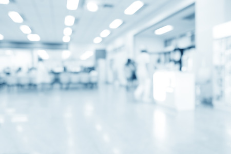 Photo pour Blurred interior of hospital or clinical with people - abstract medical background. - image libre de droit