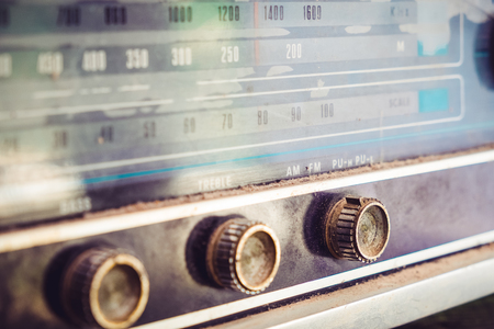 Photo for Close - up button of vintage radio receiver  - Royalty Free Image