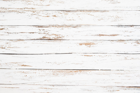Photo pour Wood plank painted in white weathered and old. Vintage and rustic white wooden background. - image libre de droit