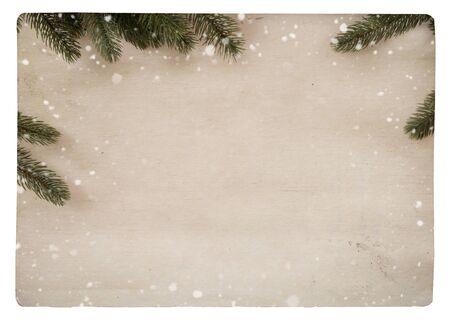 Photo pour vintage Christmas postcard isolate.  - image libre de droit