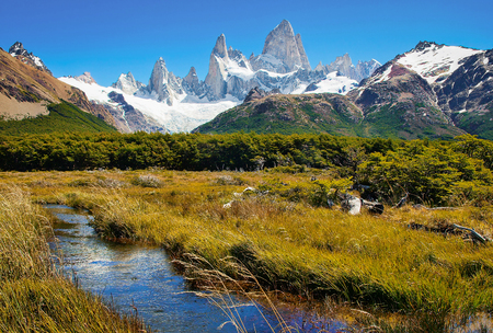 Photo for Beautiful landscape with Mt Fitz Roy in Los Glaciares National Park, Patagonia, Argentina, South America - Royalty Free Image