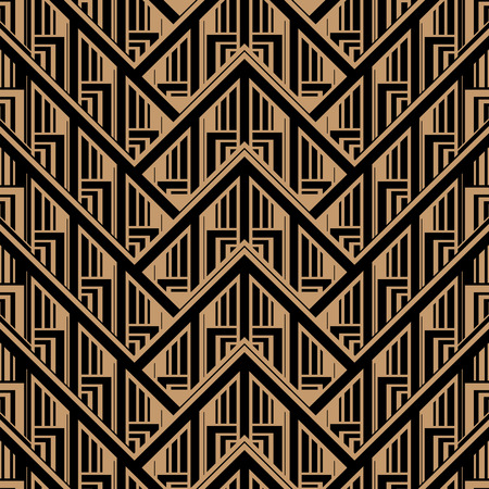 Illustration for Vector Seamless Abstract Vintage Pattern. Gatsby Art Deco Style. - Royalty Free Image