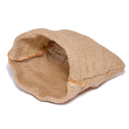 Foto de Empty bag from sacking isolated on white background - Imagen libre de derechos