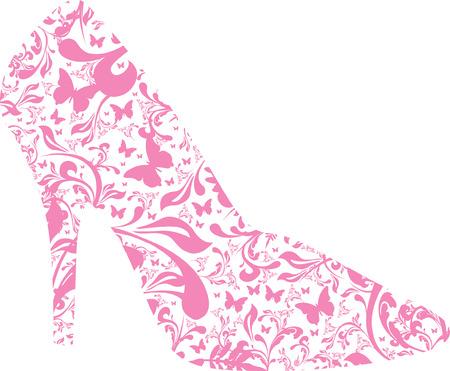 floral high heel