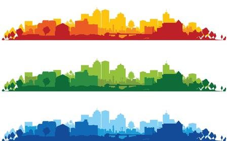 Foto de set of three cityscapes - Imagen libre de derechos