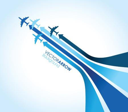 Illustration pour blue airplane background - image libre de droit