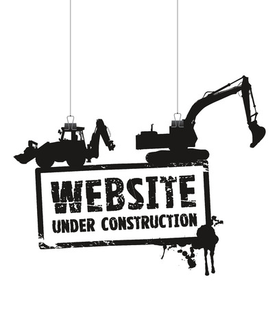 Illustration pour website under construction sign - image libre de droit