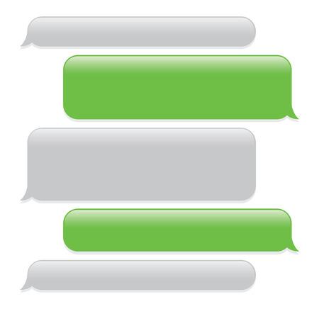 Ilustración de a green mobile phone text messaging screen - Imagen libre de derechos