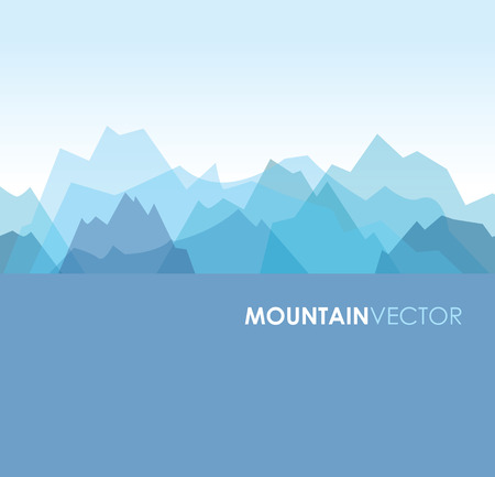 Illustration pour a blue overlapping green mountain background image - image libre de droit