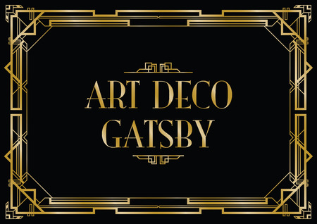 Illustration pour gatsby art deco background - image libre de droit