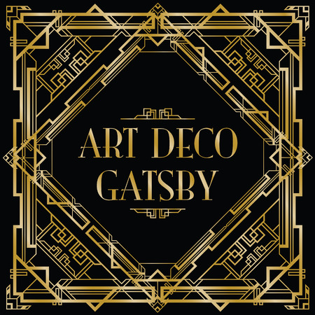 Illustration for gatsby art deco background - Royalty Free Image