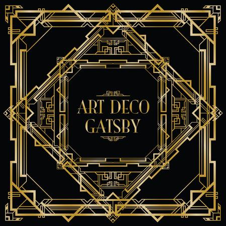 Ilustración de gatsby art deco background - Imagen libre de derechos