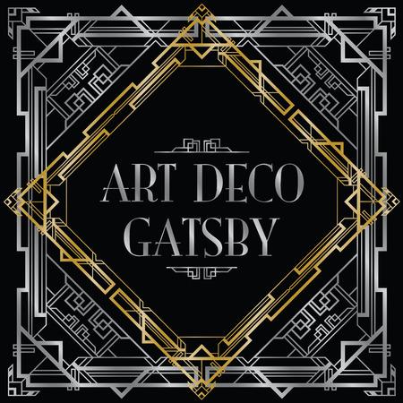 Illustration pour gatsby art deco background - image libre de droit