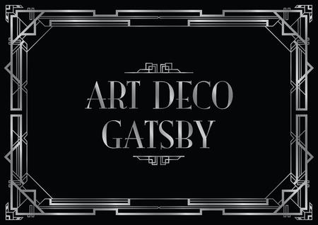 Illustration pour gatsby wedding invite - image libre de droit