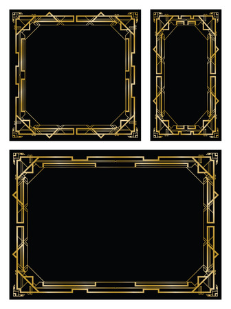 Illustration for art deco gatsby backgrounds - Royalty Free Image