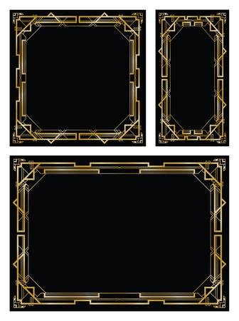 Ilustración de art deco gatsby backgrounds - Imagen libre de derechos