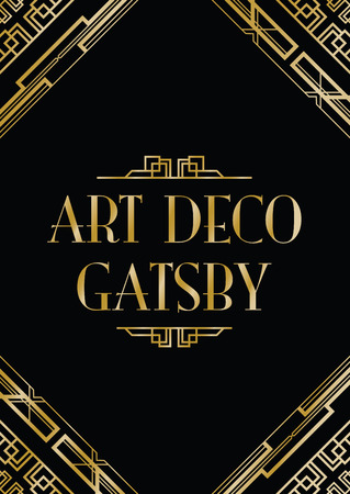 Illustration for art deco gatsby style background - Royalty Free Image