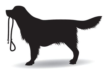 Ilustración de dog silhouette - Imagen libre de derechos