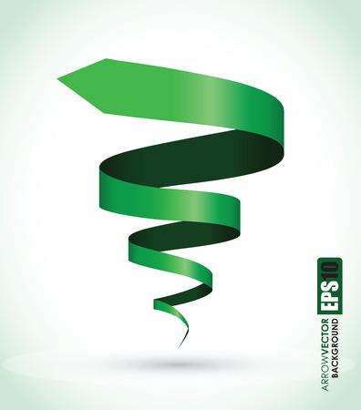Ilustración de green spiral background - Imagen libre de derechos