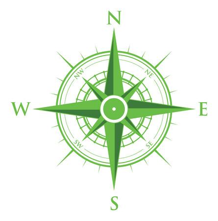 Ilustración de green compass - Imagen libre de derechos