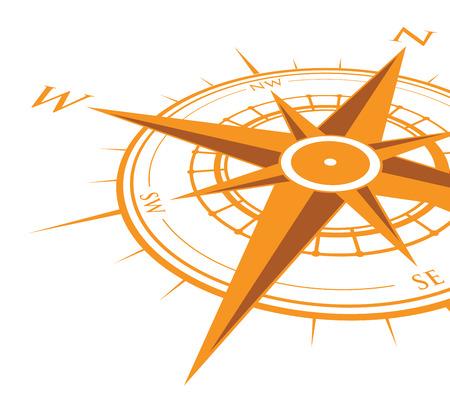 Ilustración de orange compass background - Imagen libre de derechos