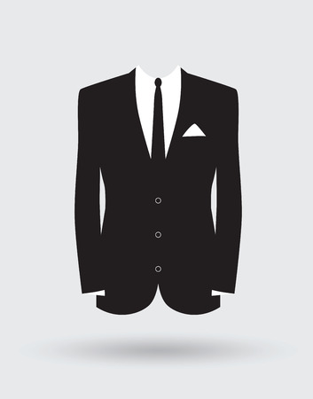 Illustrazione per grooms suit jacket outfit - Immagini Royalty Free