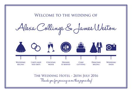 Photo pour wedding timeline background - image libre de droit