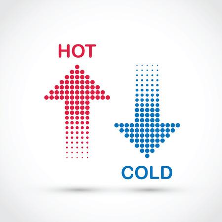 Illustration pour hot and cold - image libre de droit