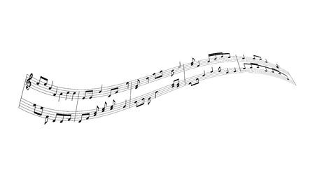 Illustration pour music notes background - image libre de droit