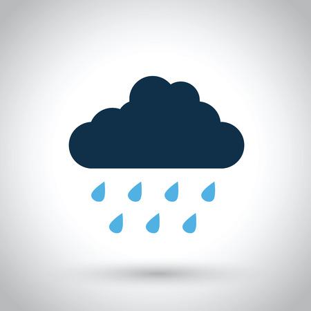 Illustration pour rain cloud - image libre de droit