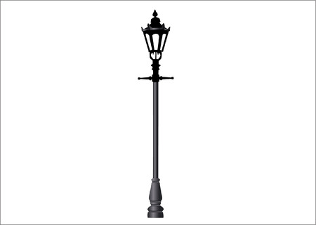 Illustrazione per lamp post - Immagini Royalty Free