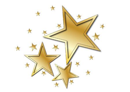 Illustration for Gold star - Royalty Free Image