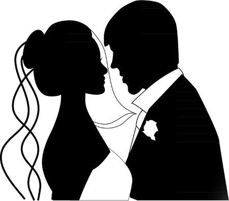 Illustration for wedding couple - Royalty Free Image
