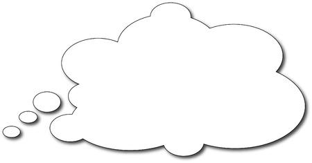 Ilustración de Thought bubble - Imagen libre de derechos