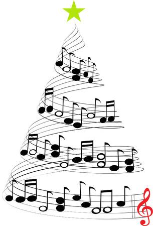 Illustration pour CHRISTMAS MUSIC TREE - image libre de droit