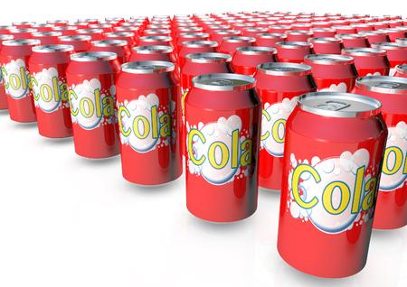 Foto de Cola cans 3D render - Imagen libre de derechos
