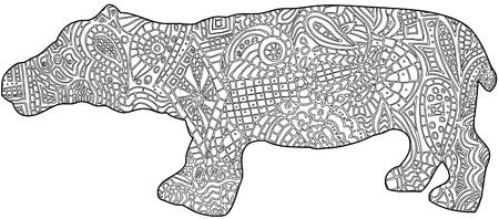 Hippo color in book